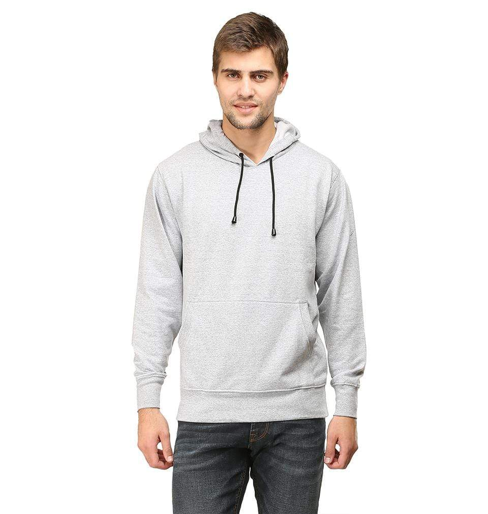 Ektarfa Garments Men Plain T-Shirts & Hoodies Plain Grey Melange Hoodie Sweatshirt