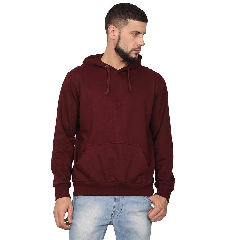 Ektarfa Garments Men Plain T-Shirts & Hoodies Plain Maroon Hoodie Sweatshirt