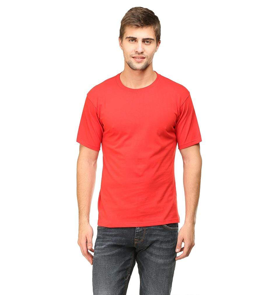 Ektarfa Garments Men Plain T-Shirts & Hoodies Plain Red Half Sleeves T-Shirt