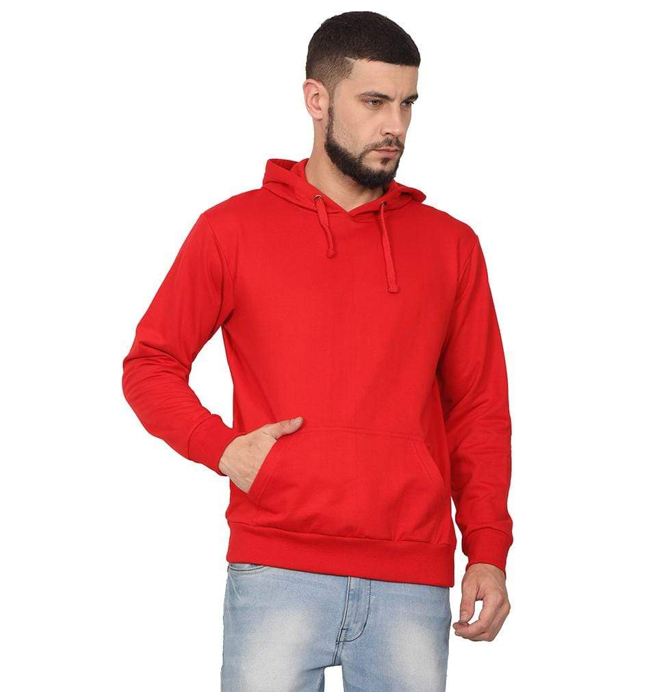 Ektarfa Garments Men Plain T-Shirts & Hoodies Plain Red Hoodie Sweatshirt