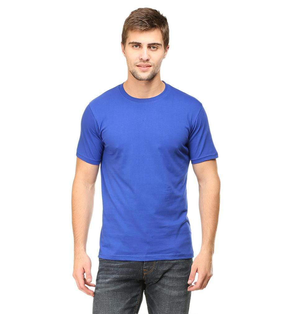 Ektarfa Garments Men Plain T-Shirts & Hoodies Plain Royal Blue Half Sleeves T-Shirt