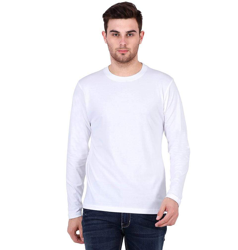 Ektarfa Garments Men Plain T-Shirts & Hoodies Plain White Full Sleeves T-Shirt