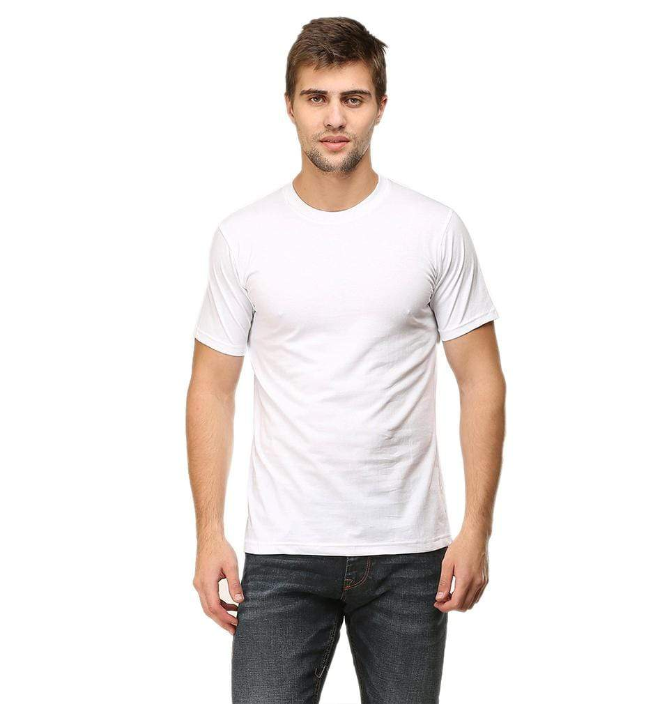 Ektarfa Garments Men Plain T-Shirts & Hoodies Plain White Half Sleeves T-Shirt