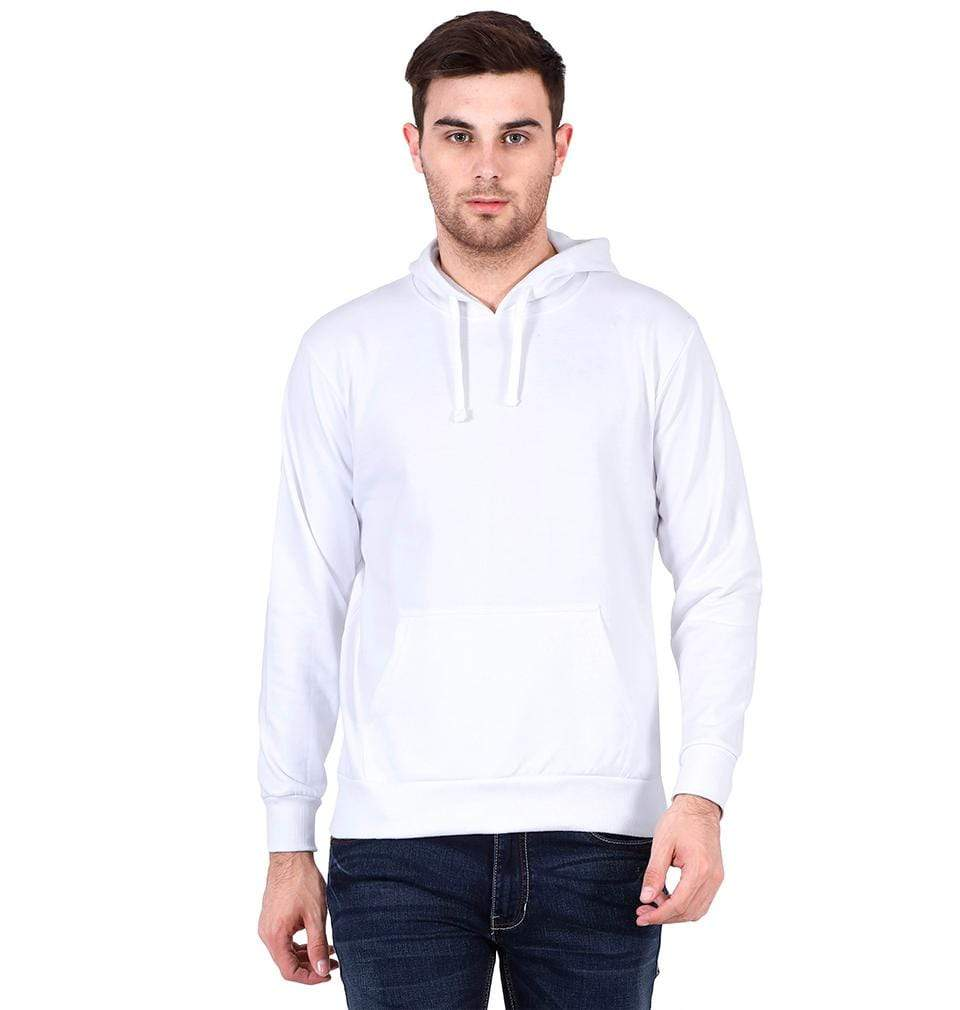 Ektarfa Garments Men Plain T-Shirts & Hoodies Plain White Hoodie Sweatshirt