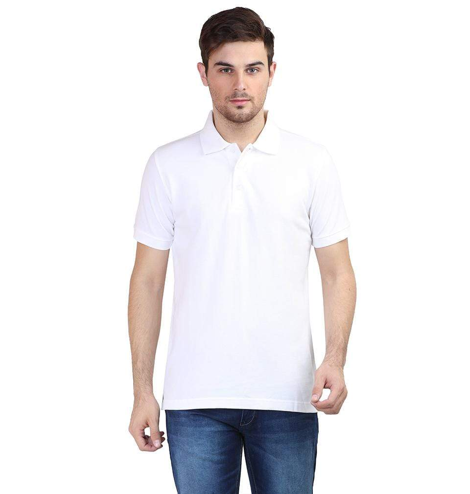 Ektarfa Garments Men Plain T-Shirts & Hoodies Plain White Polo T-Shirt