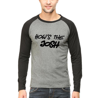 Ektarfa Garments Men Raglan T-Shirts How's The Josh Raglan Full Sleeves T-Shirt for Men