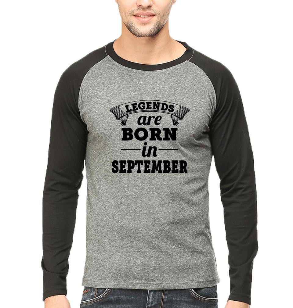 Ektarfa Garments Men Raglan T-Shirts Legends are born in september Raglan Full Sleeves T-Shirt for Men