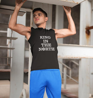 Ektarfa Garments Men Sleeveless T-Shirts GOT Game Of Thrones King In The North Sleeveless T-Shirt for Men