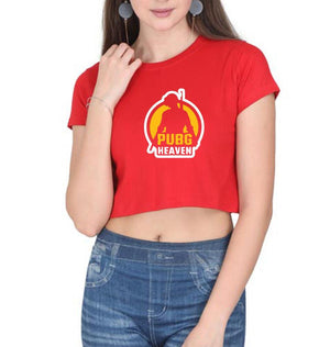 Ektarfa Garments Women Crop Top PUBG Pubg Heaven Crop Top for Women
