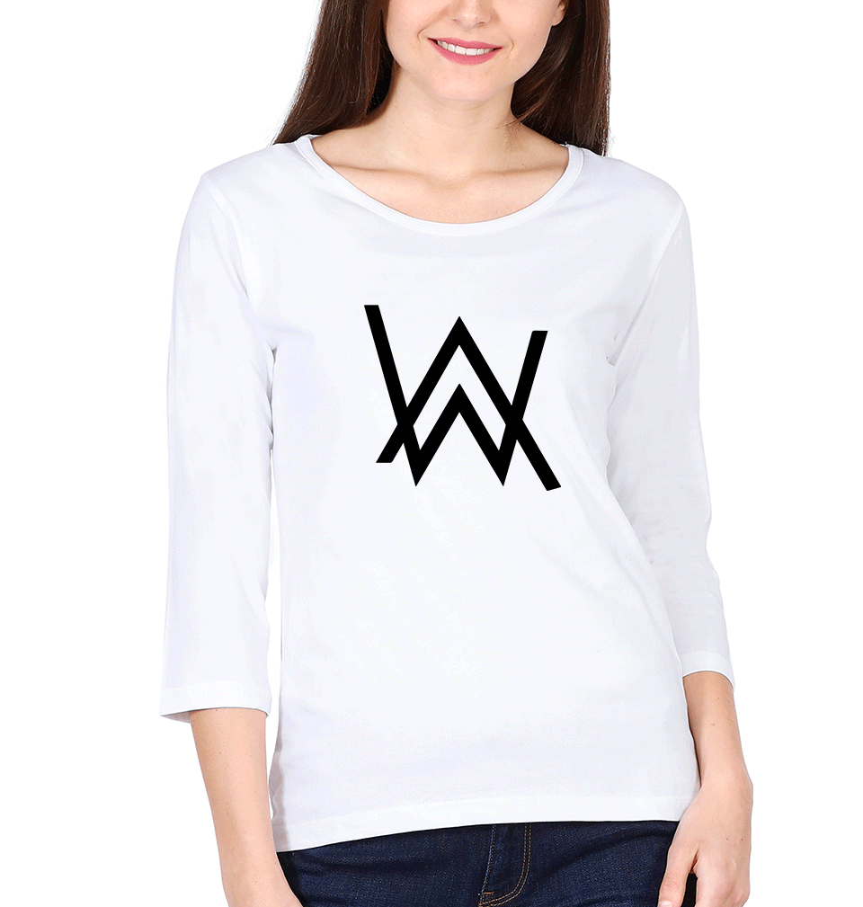 Ektarfa Garments Women Full Sleeves T-Shirts Alan Walker Full Sleeves T-Shirt for Women