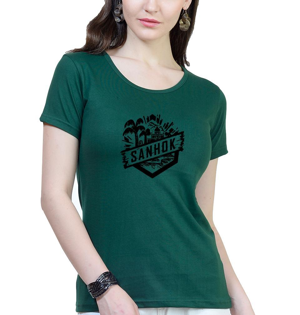 Ektarfa Garments Women Half Sleeves T-Shirts PUBG Sanhok T-Shirt for Women