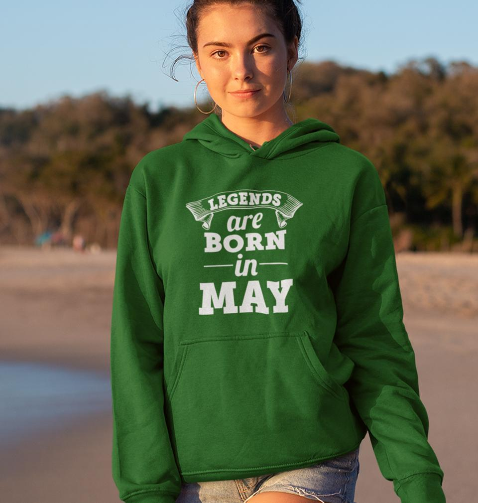 Ektarfa Garments Women Hoodies Legends are Born in May Hoodie for Women