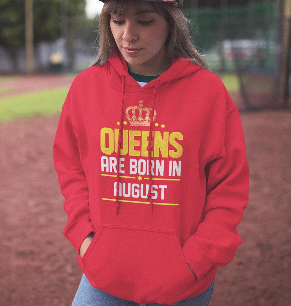 Ektarfa Garments Women Hoodies Queens Are  Born In August Hoodie for Women