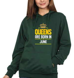 Ektarfa Garments Women Hoodies Queens Are Born In June Hoodie for Women