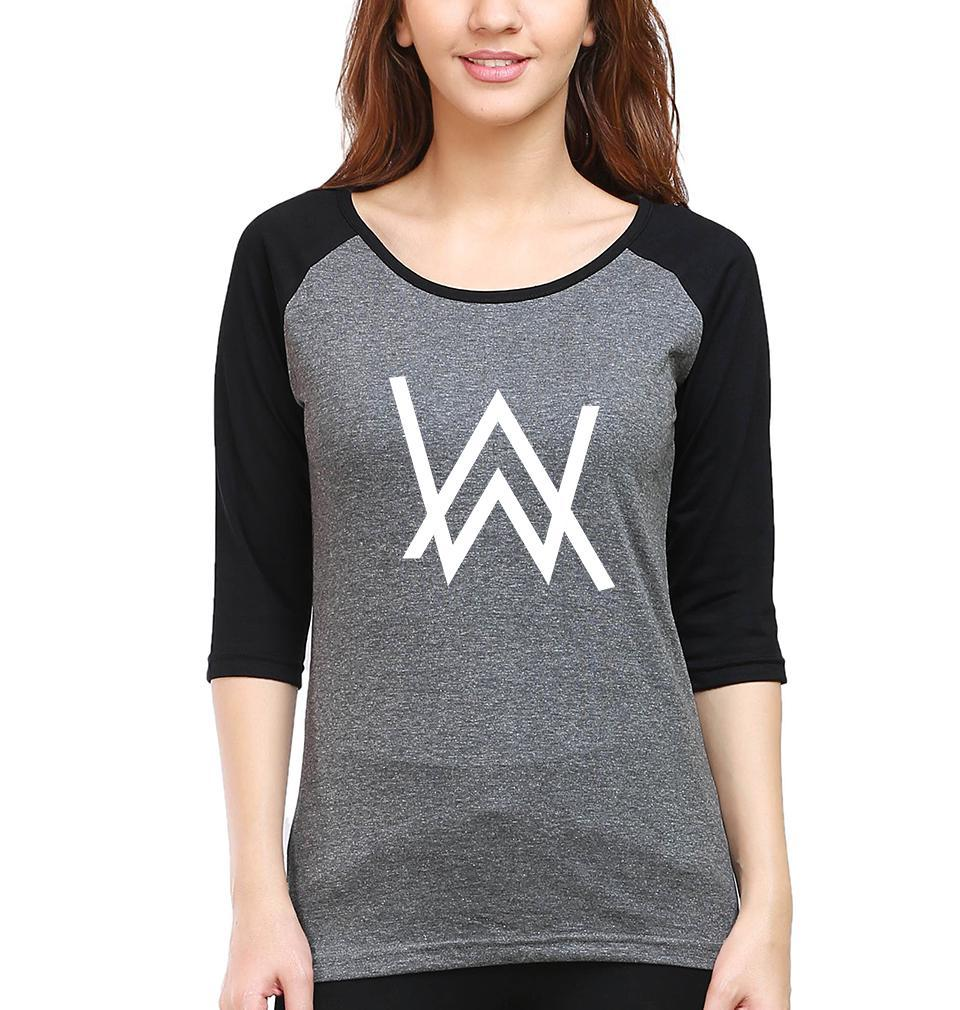 Ektarfa Garments Women Raglan Full Sleeves T-Shirts Alan Walker Full Sleeves Raglan T-Shirt for Women