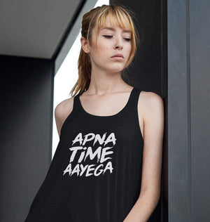 Ektarfa Garments Women Tank Top Apna Time Aayega Tank Top for Women