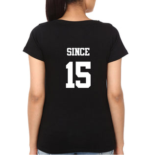 together Since 15 Half Sleeves T-Shirt for Women