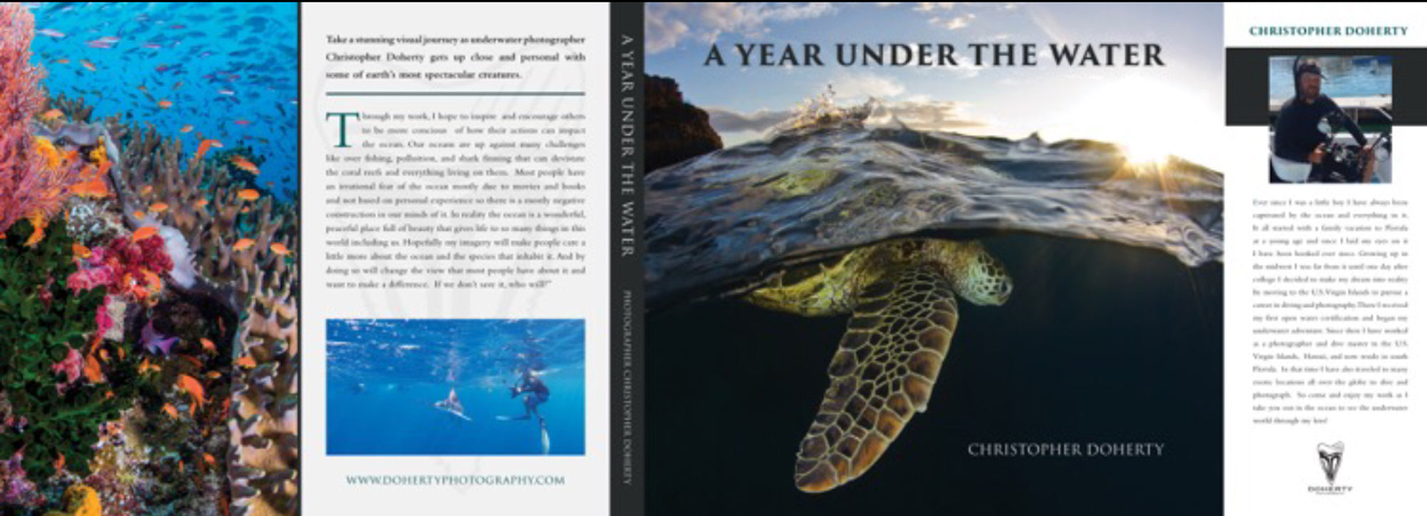 """A Year Under The Water"" Pre Order 12 X 12 Hardback book along with 200 pages of fun from Christopher's adventures around the world!"