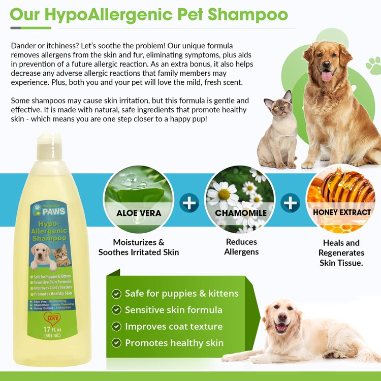 Hypoallergenic Shampoo for Dogs & Cats