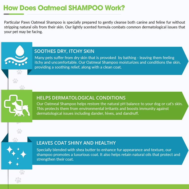 Oatmeal Shampoo for Dogs & Cats