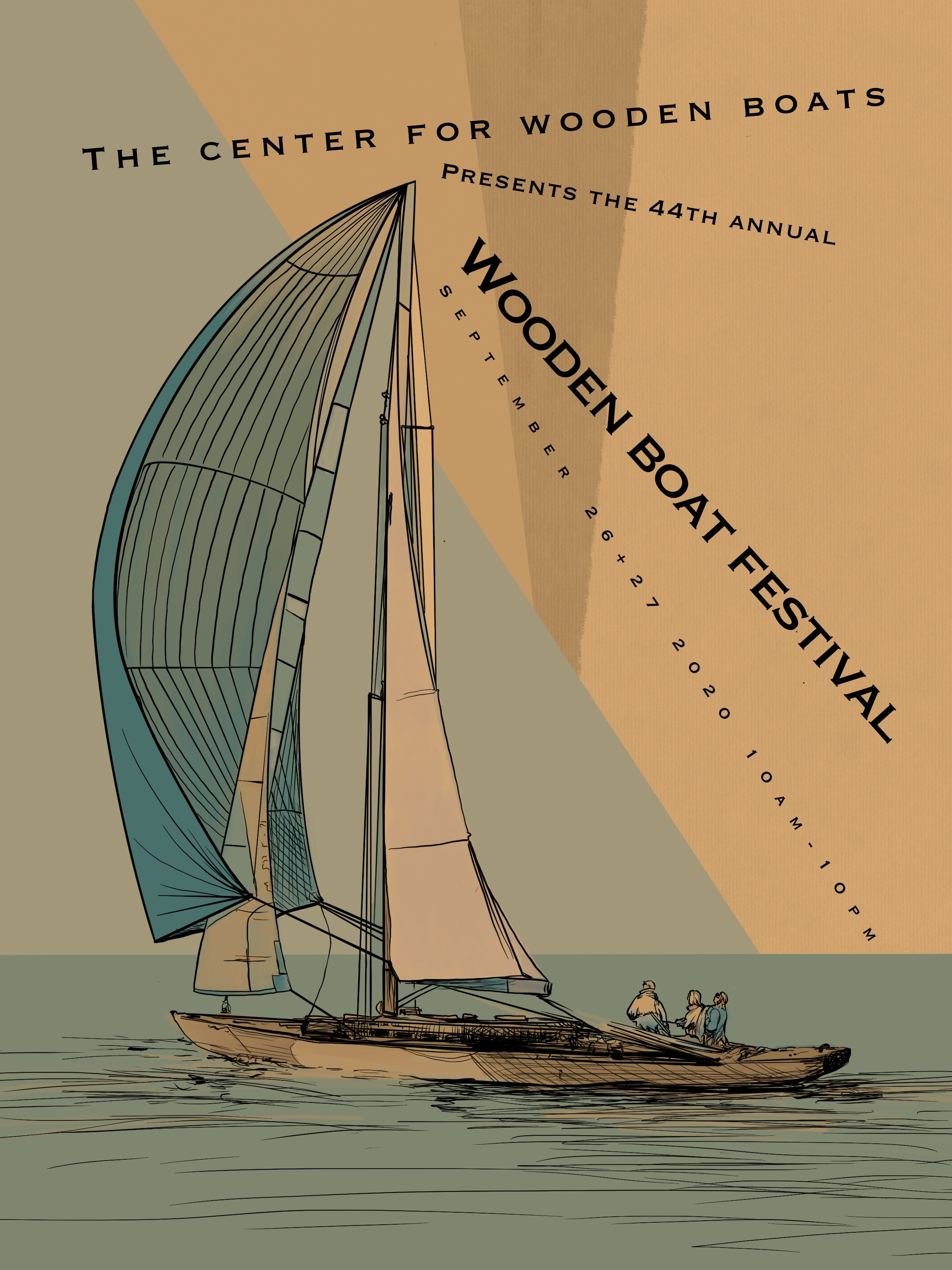 "Poster Design- ""Center for Wooden Boats"" proposal for Wooden Boat Festival poster"