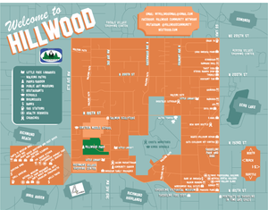Print Design-Hillwood Neighborhood Map