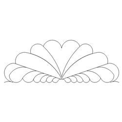 1467 SCALLOPED FEATHER BORDER