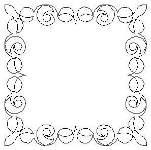 1574 CURLY RIBBON FRAME