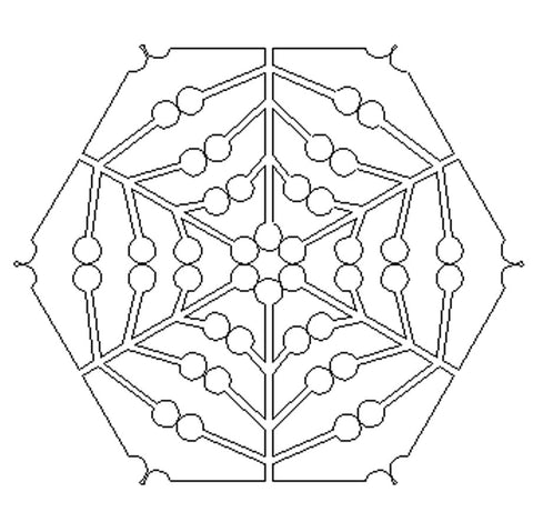 1800 LOLLIPOP HEXAGON BLOCK