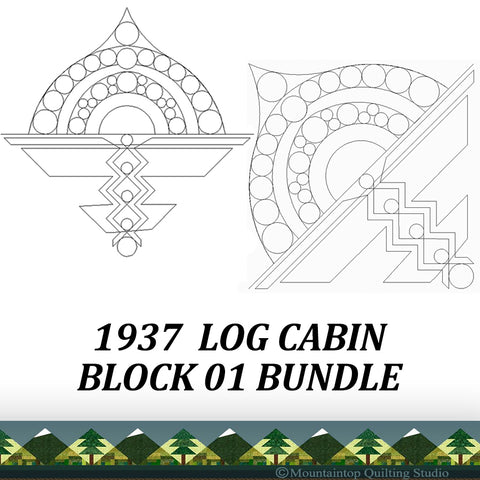1937 LOG CABIN BLOCK 01 BUNDLE