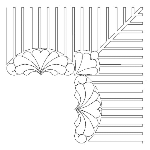 1958 SCALLOP FEATHER KEY BORDER CORNER