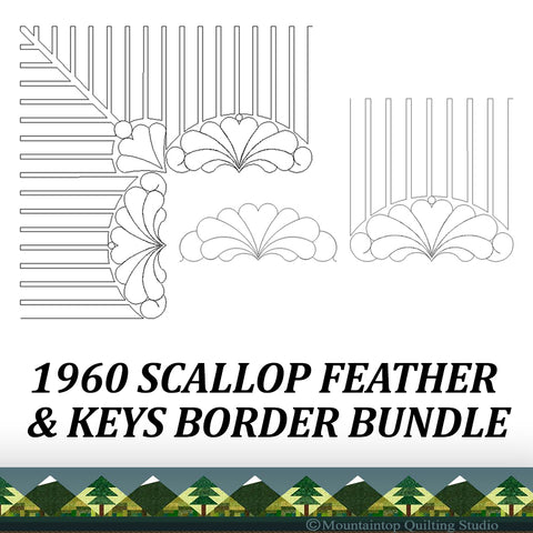 1960 SCALLOP FEATHER & KEYS BUNDLE