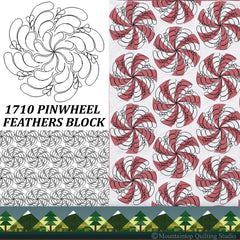 1710 PINWHEEL FEATHERS BLOCK