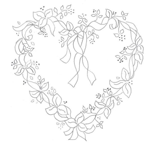 REDWORK HEART WREATH