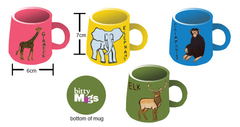 First Mockup Sent to Manufacturers of Mugs with Animals on Them