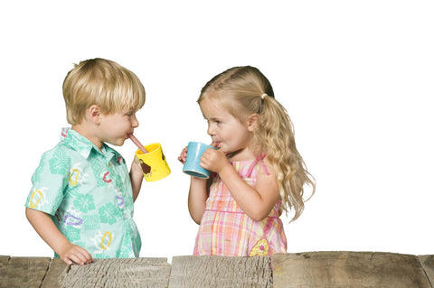 Kids Love Drinking from Glass Straws