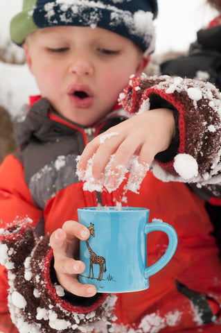 These Hot Chocolate Mugs can be cooled with snow if needed