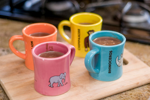 BittyMugs™ Hot Chocolate Mugs - ready to brave the cold