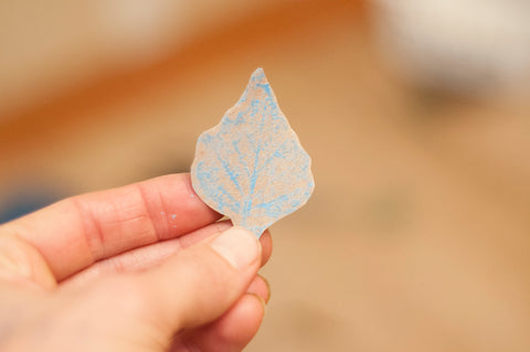 Step 5: Cutout the shape of the leaf and find a realistic replica