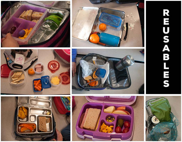 Examples of Reusable Containers for Lunches