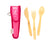 Closeout: Bamboo Utensils for Kids - To Go Cutlery Set-Utensils-Wildini