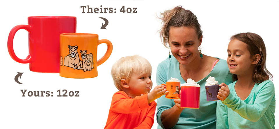 Real Ceramic Kids Mugs: Sustainable Gifts for Toddlers & Preschoolers