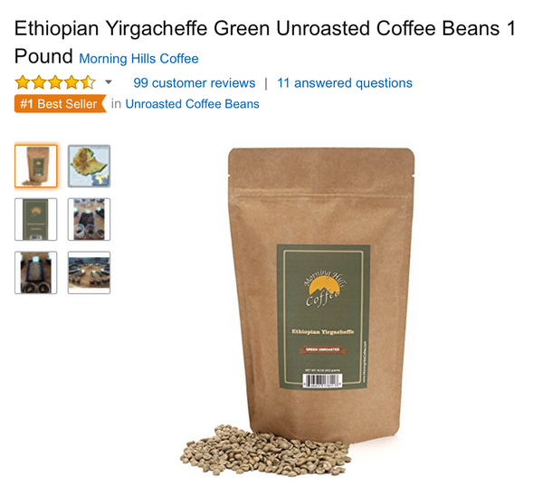 Ethiopian Yirgacheffe Green 12oz BEST SELLER