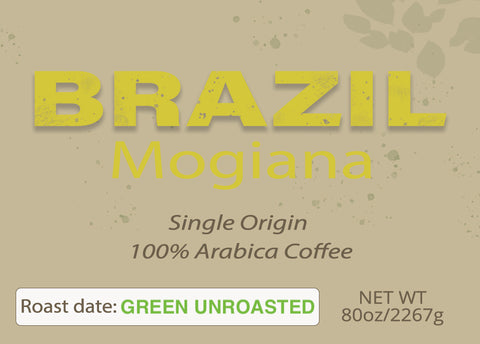 Brazil Mogiana Green Unroasted 5 lbs