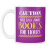 Caution Will Talk About Books For Hours Mug - Awesome Librarians