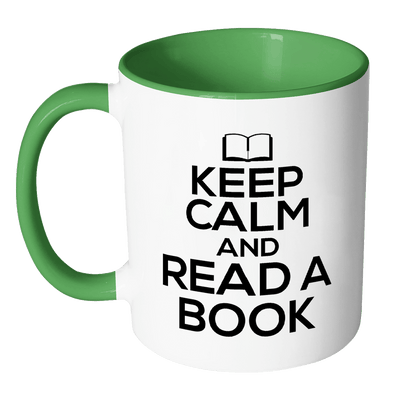 Keep Calm And Read A Book Accent Mugs