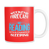 Weekend Forecast Reading With A Chance Of Sleeping Mug - Awesome Librarians - 5