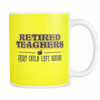 Retired Teacher Every Child Left Behind Mug - Awesome Librarians - 7
