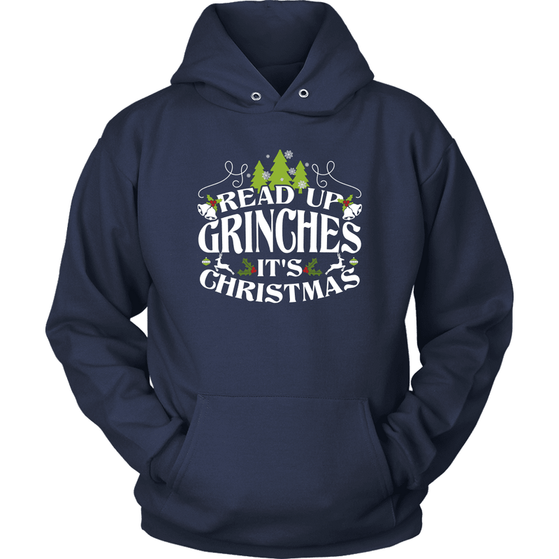 Read Up Grinches It's Christmas Shirt - Awesome Librarians