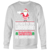 Be Nice To The Librarian Santa Is Watching Ugly Christmas Sweater - Awesome Librarians